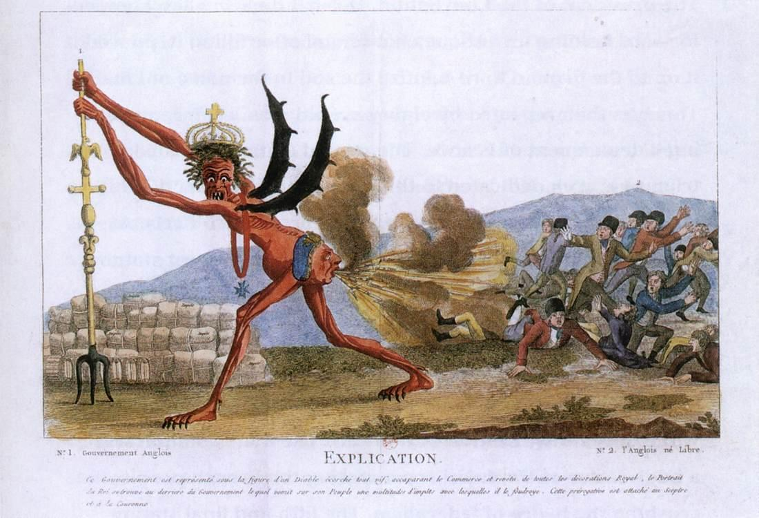 Caricature of the English Government - Jacques-Louis David