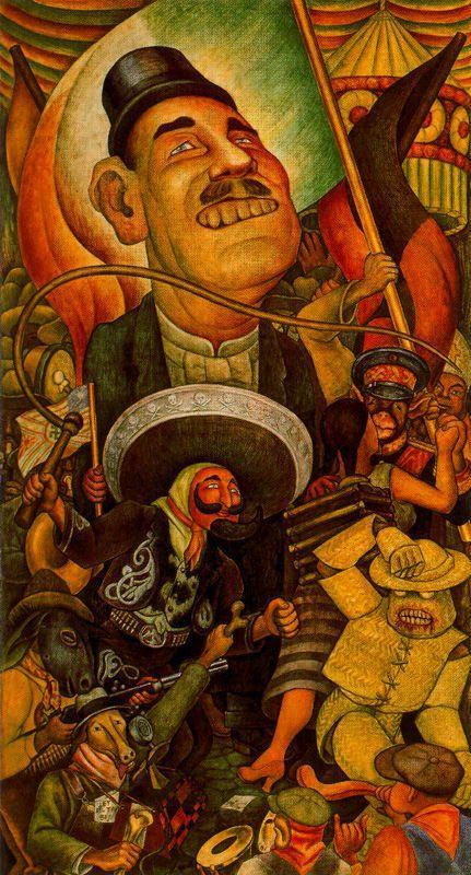 Carnival of Mexican Life. Dictatorship - Diego Rivera