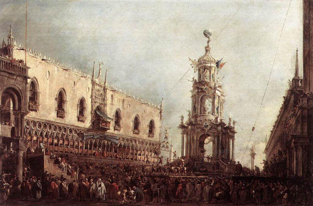 Carnival Thursday on the Piazzetta - Francesco Guardi