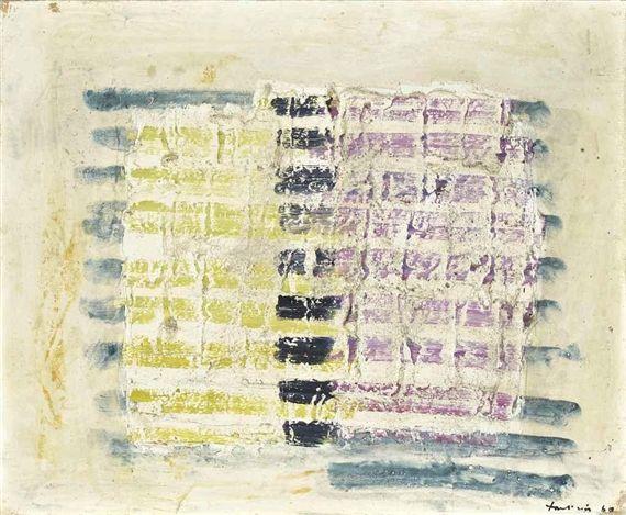 Carre de couleurs - Jean Fautrier