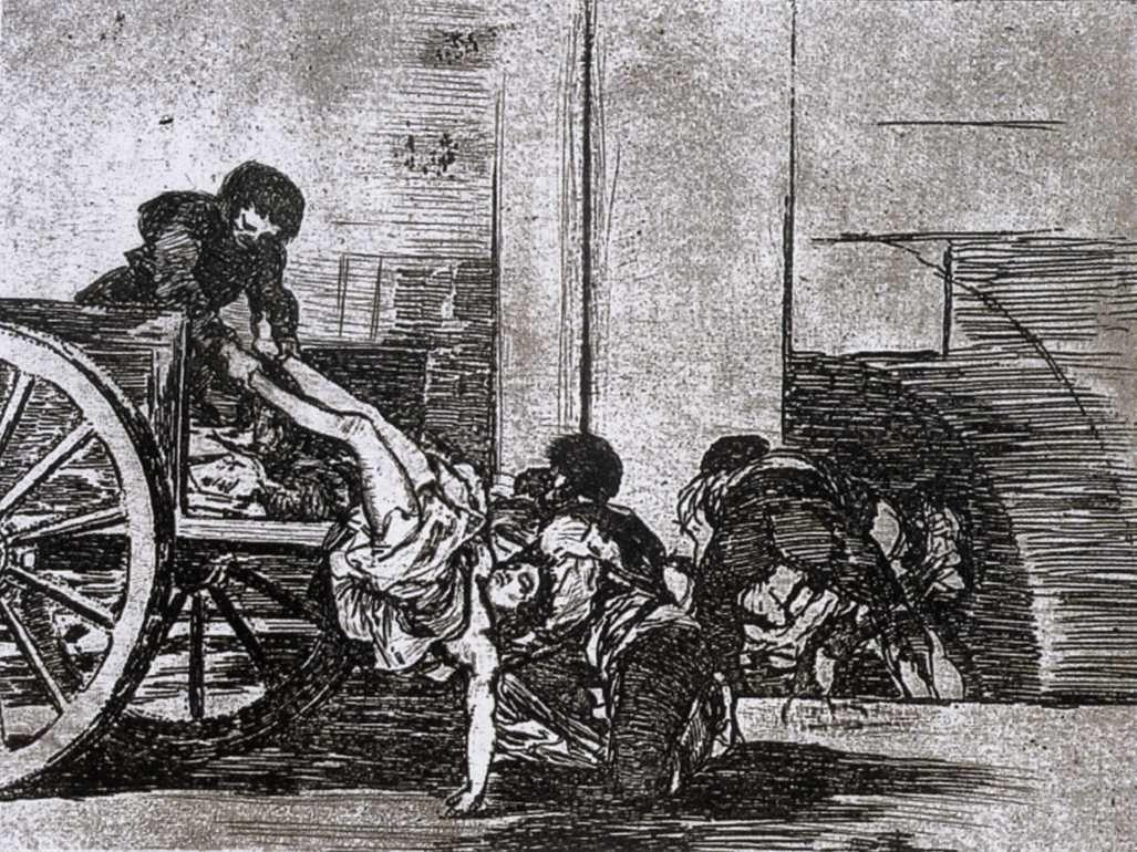 Cartloads to the cemetery - Francisco Goya