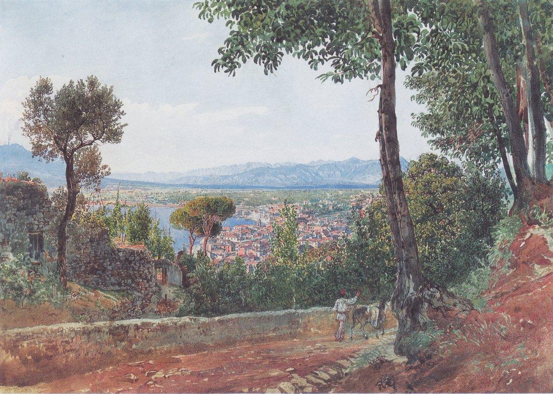 Castellammare on the Gulf of Naples - Rudolf von Alt