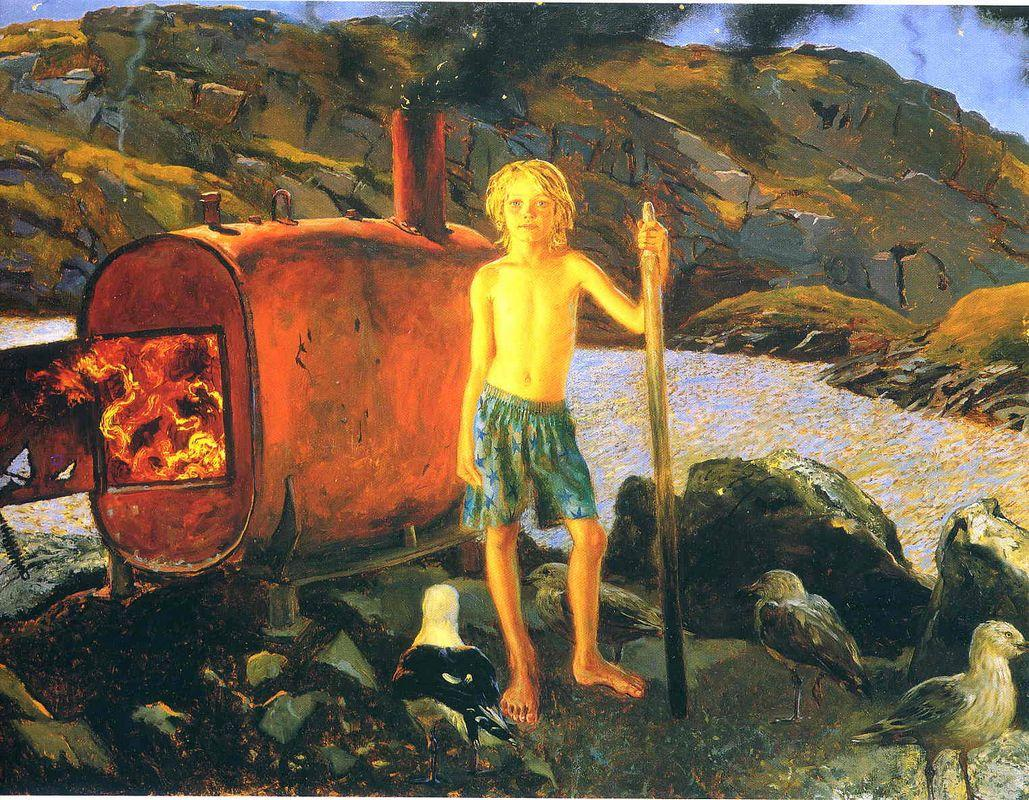 Cat Bates of Monhegan - Jamie Wyeth