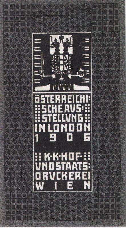 Catalogue of the Austrian Exhibition in London - Koloman Moser