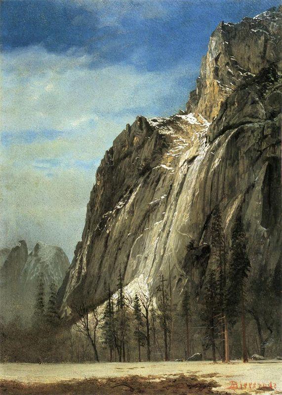 Cathedral Rocks, A Yosemite View - Albert Bierstadt
