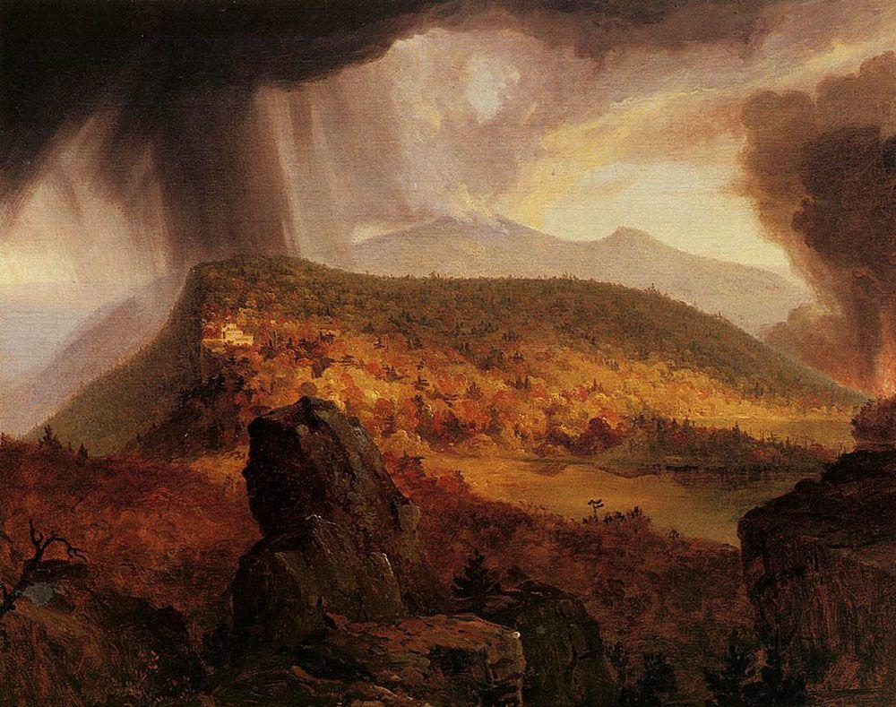 Catskill Mountain House, The Four Elements - Thomas Cole