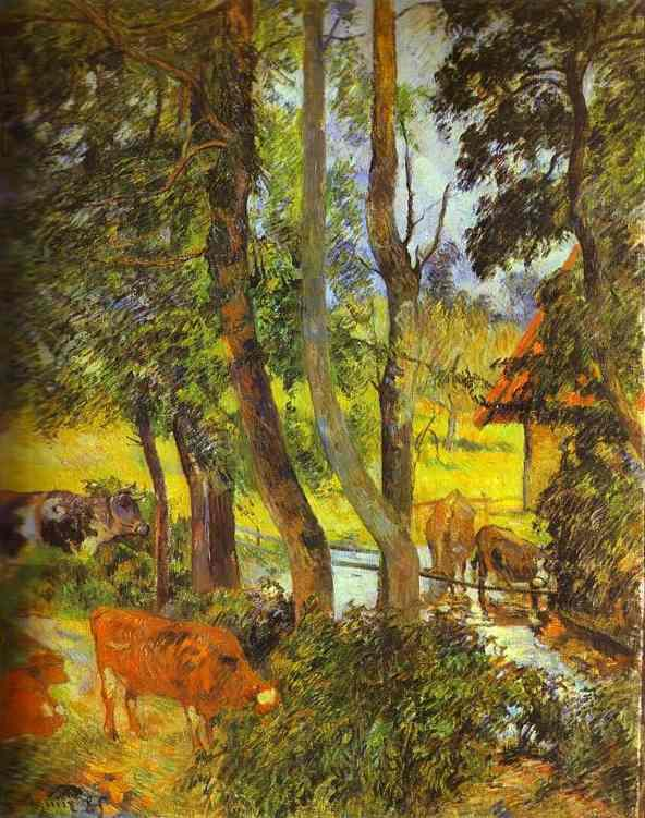 Cattle drinking - Paul Gauguin
