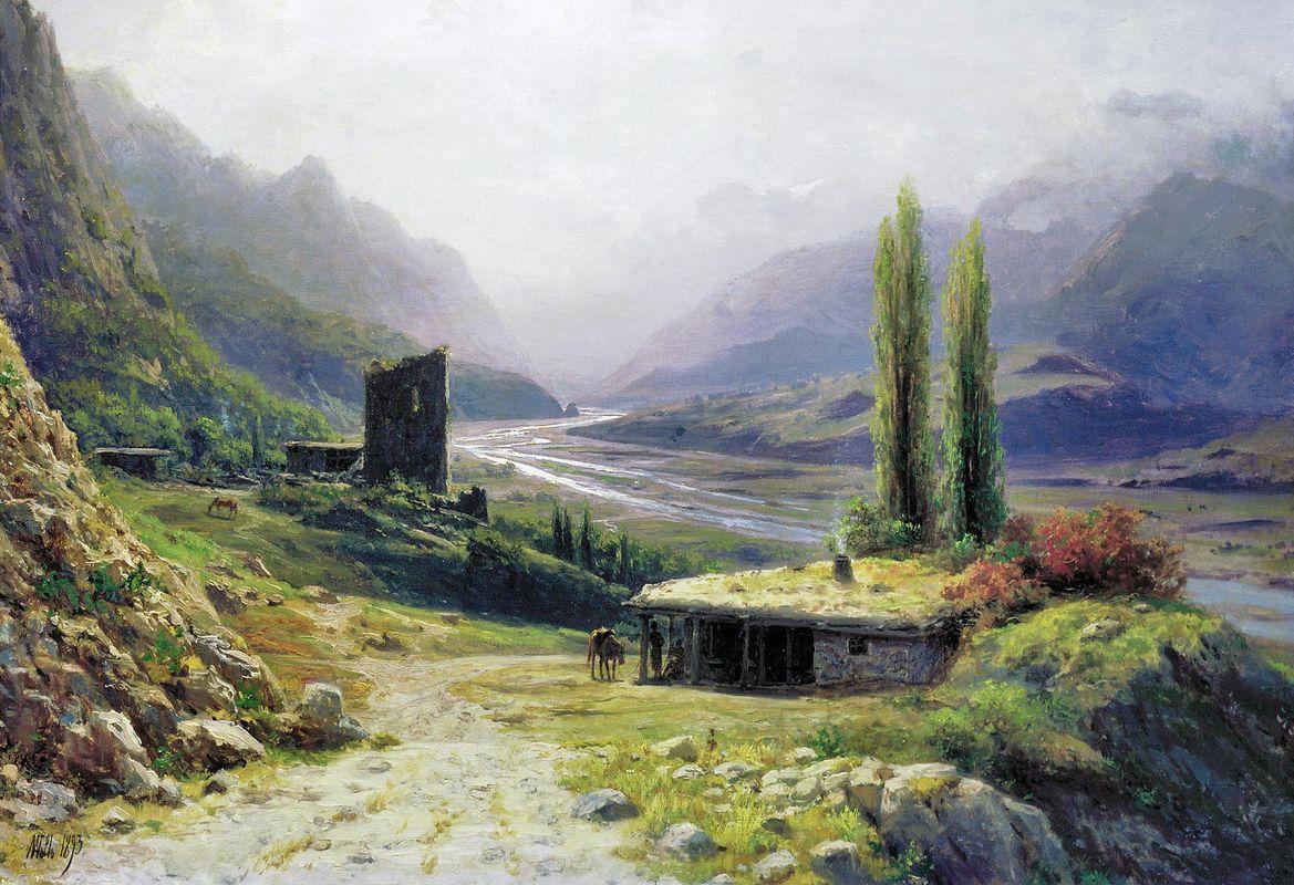Caucasian canyon - Lev Lagorio