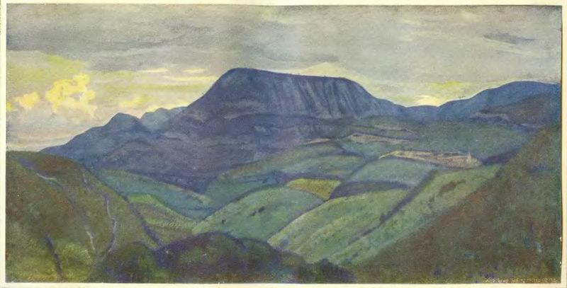 Caucasus. Arc mountain. - Nicholas Roerich