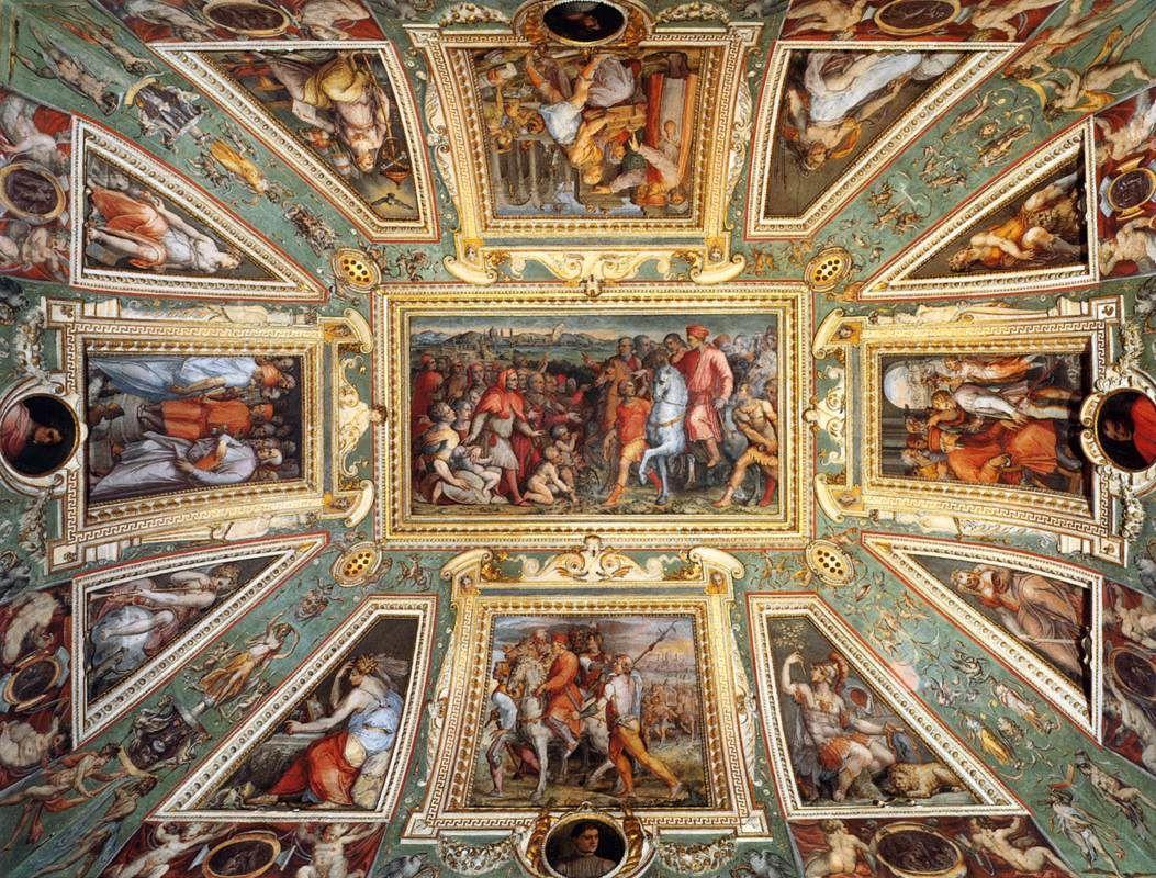 Ceiling decoration Palazzo Vecchio, Florence - Giorgio Vasari