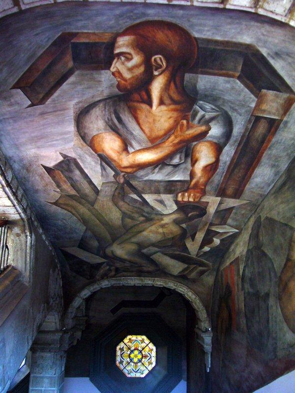 Ceiling of Colegio de San Ildefonso - Jose Clemente Orozco