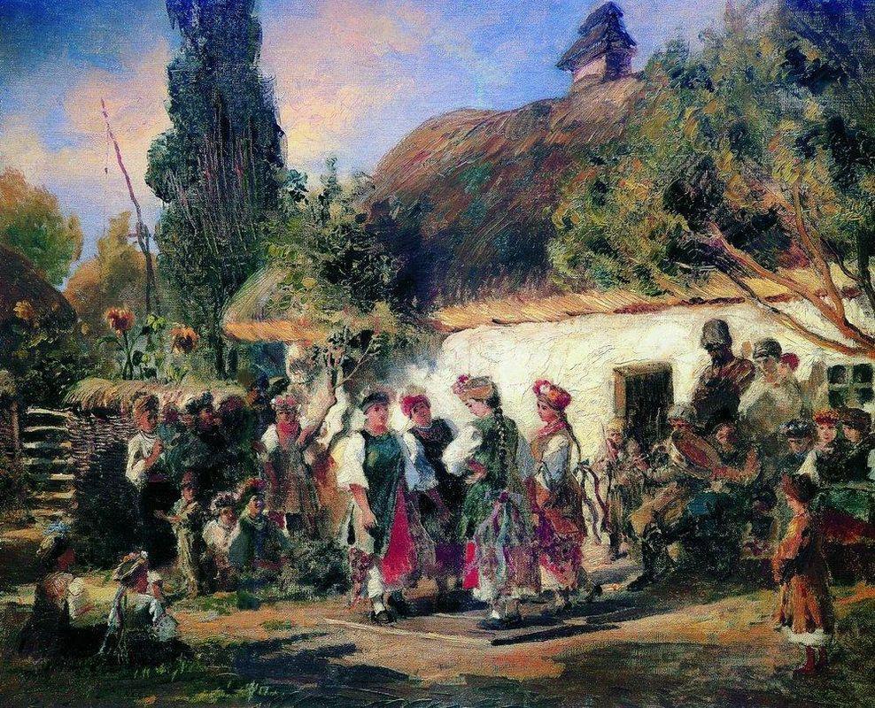 Celebration in Ukraine - Konstantin Makovsky