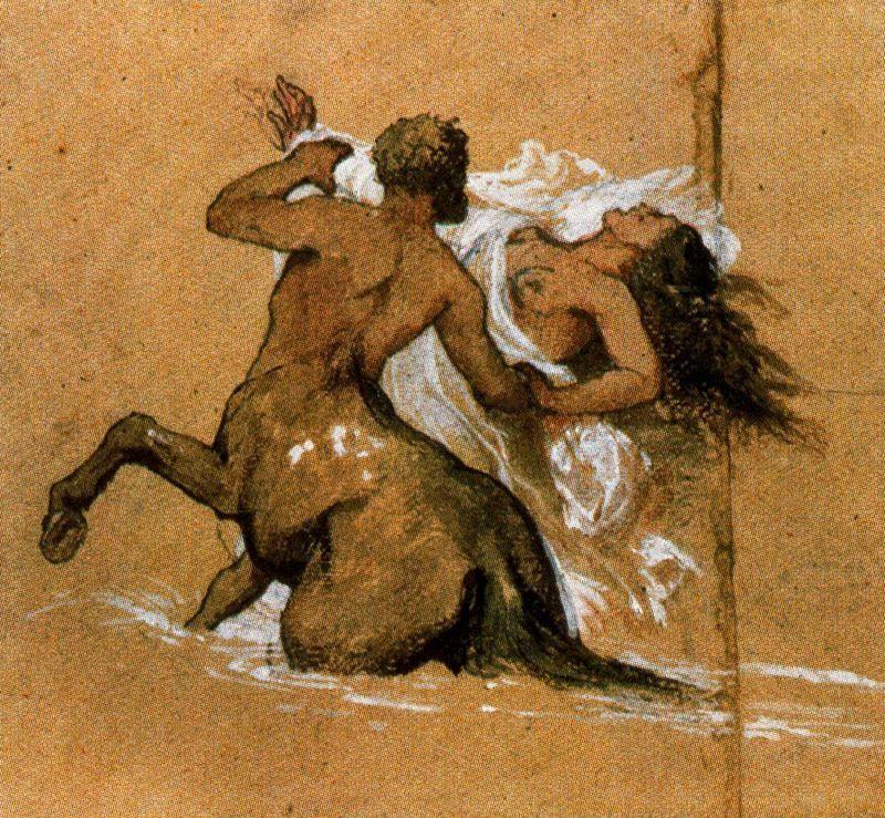 Centaur and nymph - Arnold Bocklin