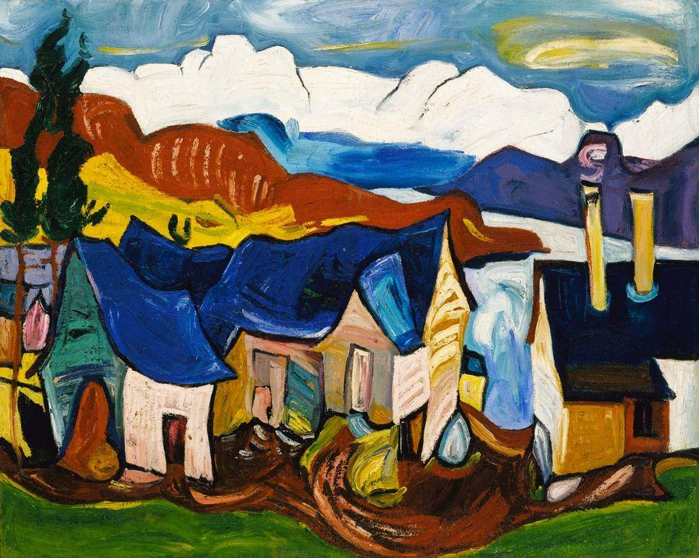 Chalet in the Mountains - William H. Johnson
