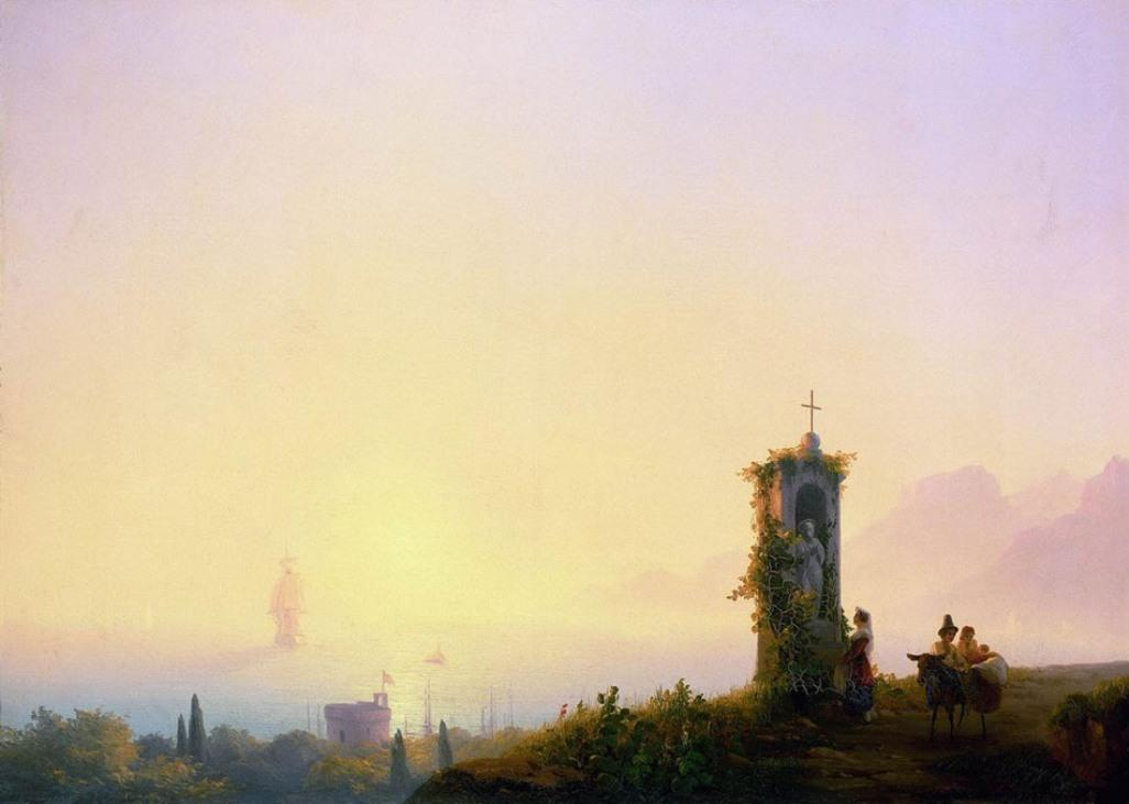 Chapel on seashore - Ivan Aivazovsky