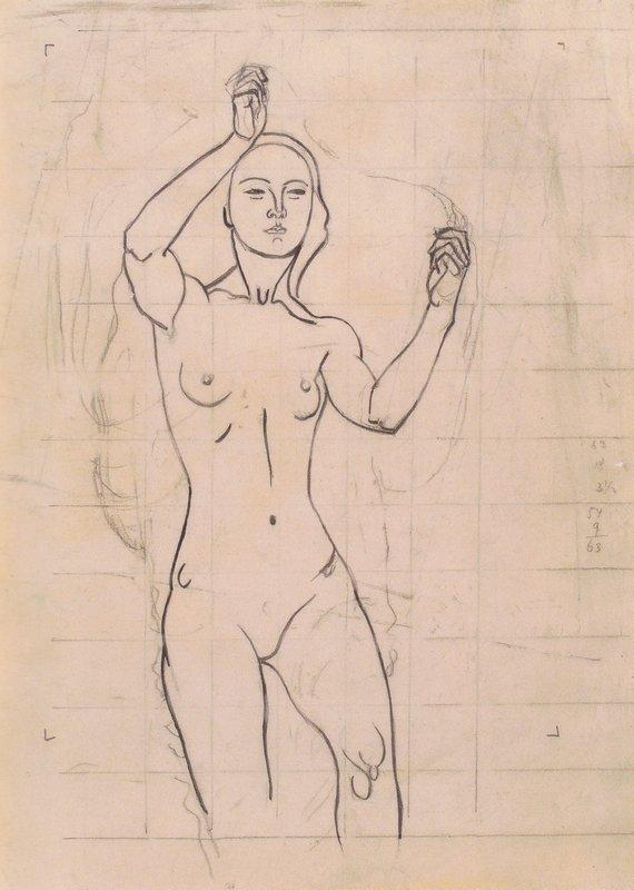 Character study of Venus in the Grotto - Koloman Moser