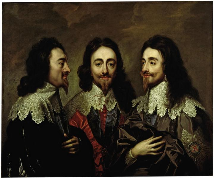 Charles I in Three Positions - Anthony van Dyck