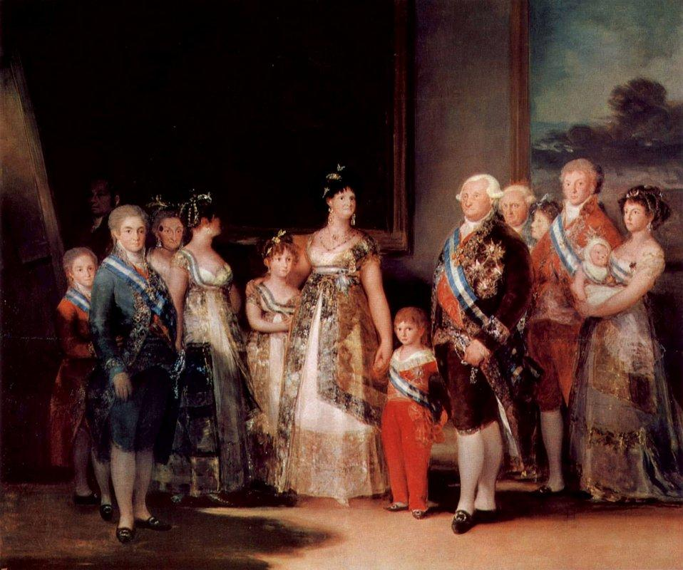 Charles IV of Spain and his family - Francisco Goya