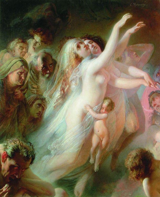 Charon carries dead souls across the River Styx - Konstantin Makovsky