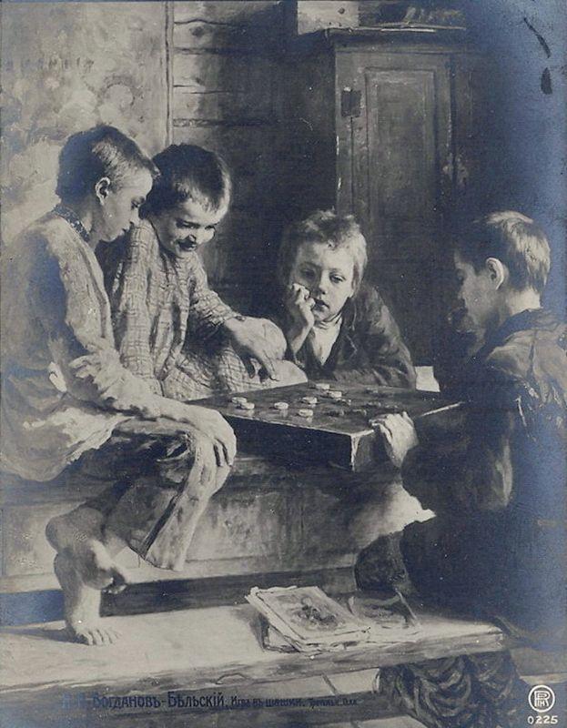 Checks Game - Nikolay Bogdanov-Belsky