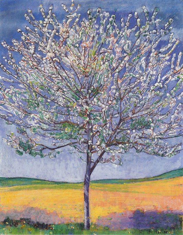Cherry Tree in Bloom - Ferdinand Hodler