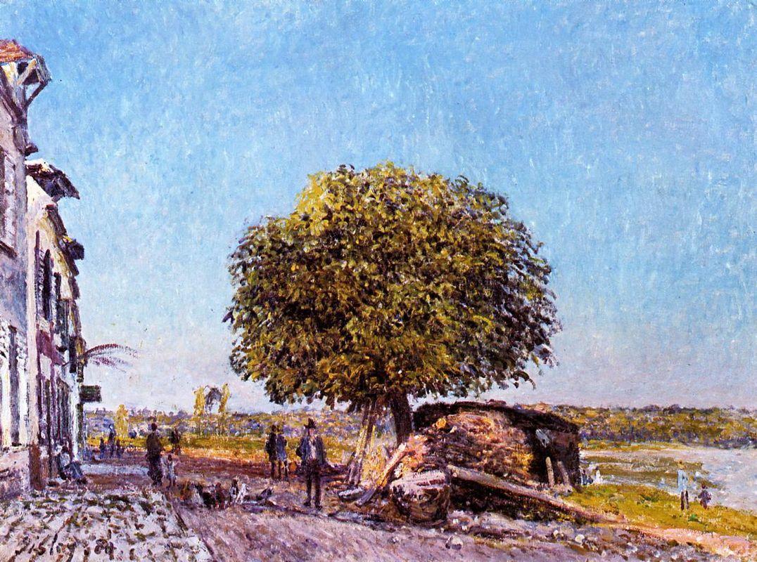 Chestnut Tree at Saint Mammes - Alfred Sisley
