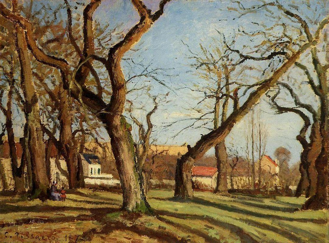 Chestnut Trees at Louveciennes - Camille Pissarro