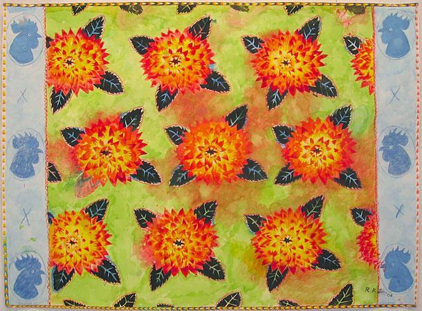 Chicken Flower - Robert Zakanitch