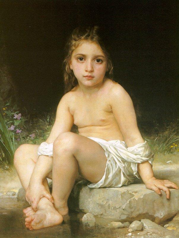 Child at Bath - William-Adolphe Bouguereau