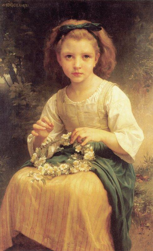Child Braiding A Crown - William-Adolphe Bouguereau