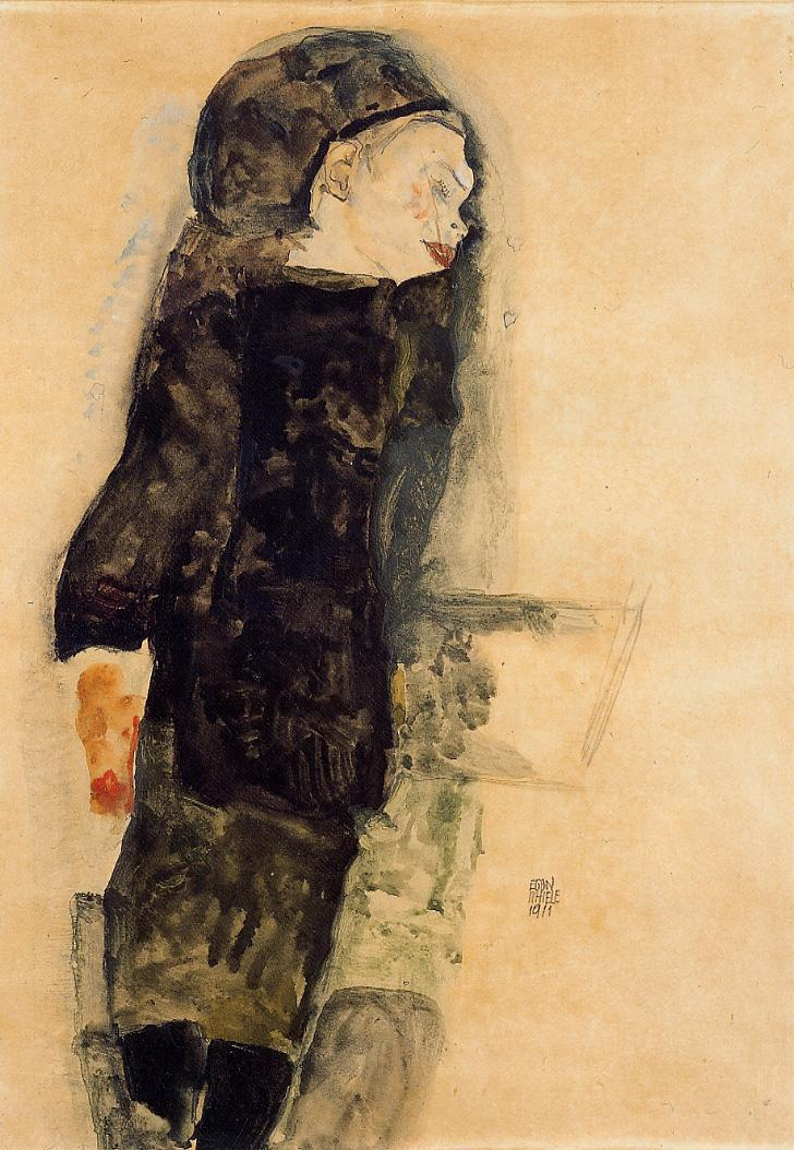 Child in Black - Egon Schiele