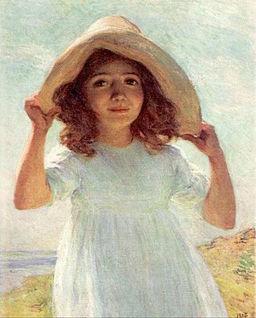 Child in Sunlight - Willard Metcalf