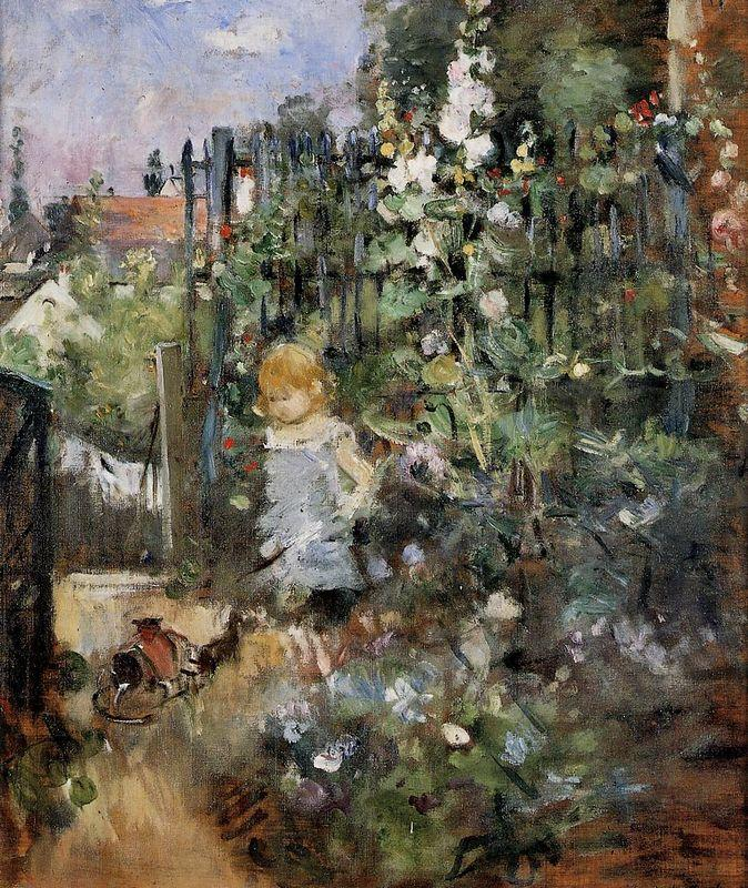 Child in the Rose Garden - Berthe Morisot