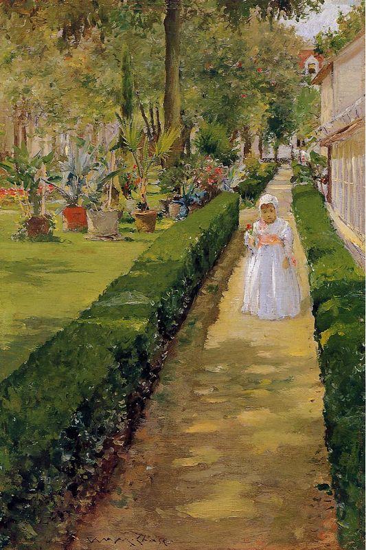 Child  on a Garden Walk - William Merritt Chase