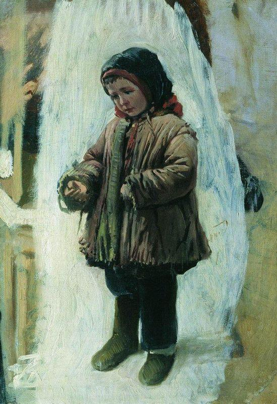 Child on the Snow - Konstantin Makovsky
