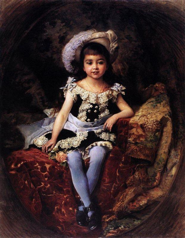 Child Portrait - Konstantin Makovsky