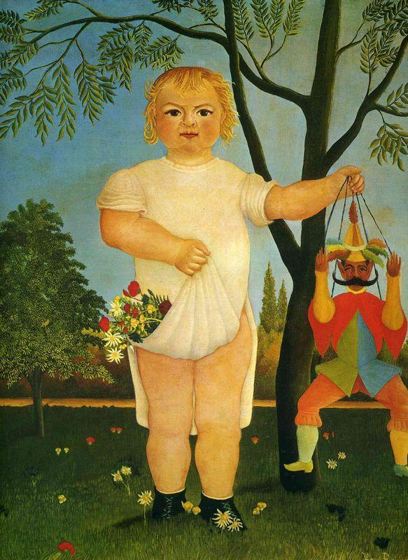 Child with a Puppet  - Henri Rousseau