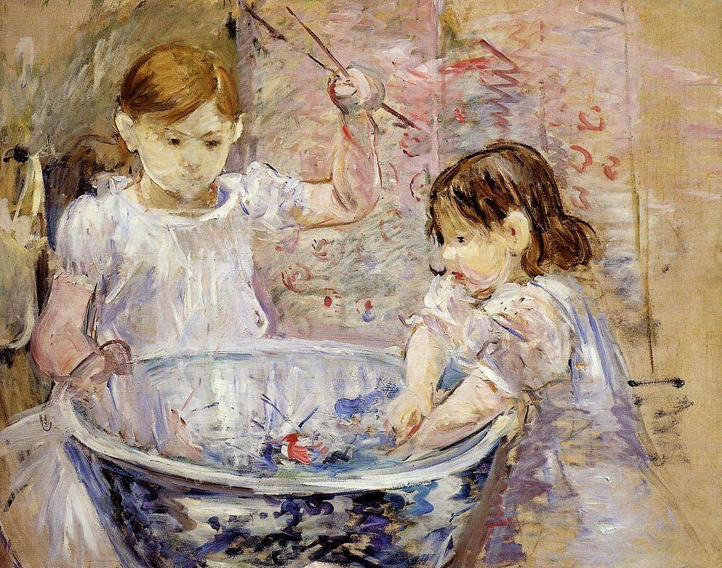 Children at the Basin - Berthe Morisot
