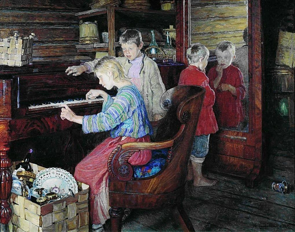 Children at the Piano - Nikolay Bogdanov-Belsky