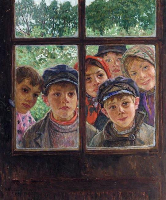 Children at the Window - Nikolay Bogdanov-Belsky