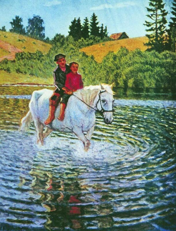 Children on a Horse - Nikolay Bogdanov-Belsky