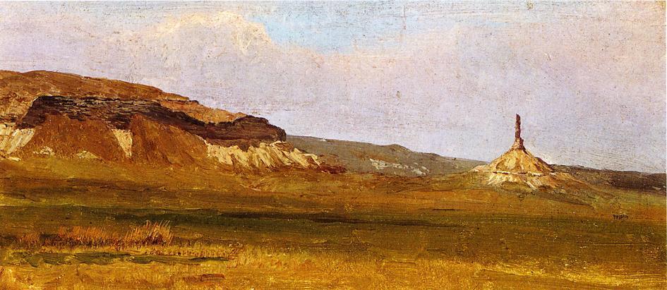 Chimney Rock - Albert Bierstadt