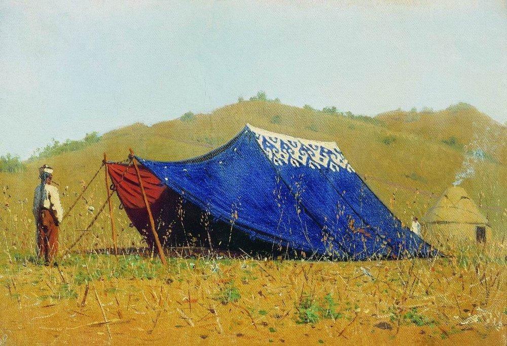 China tent - Vasily Vereshchagin