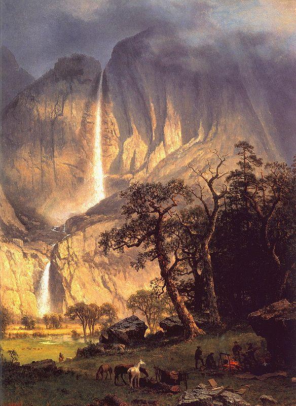 Cho-looke, the Yosemite Fall  - Albert Bierstadt