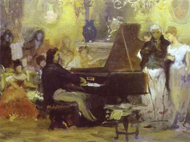 Chopin Performing in the Guest-Hall of Anton Radziville in Berlin in 1829 - Henryk Siemiradzki