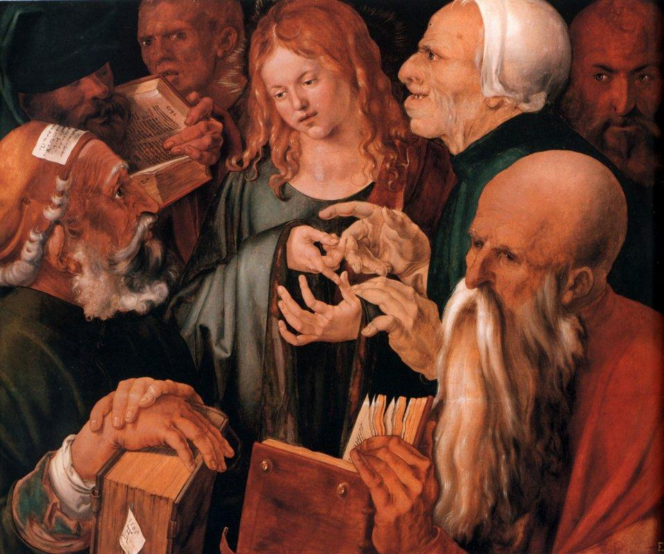 Christ among the Doctors - Albrecht Durer