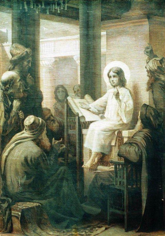Christ among the teachers - Konstantin Makovsky