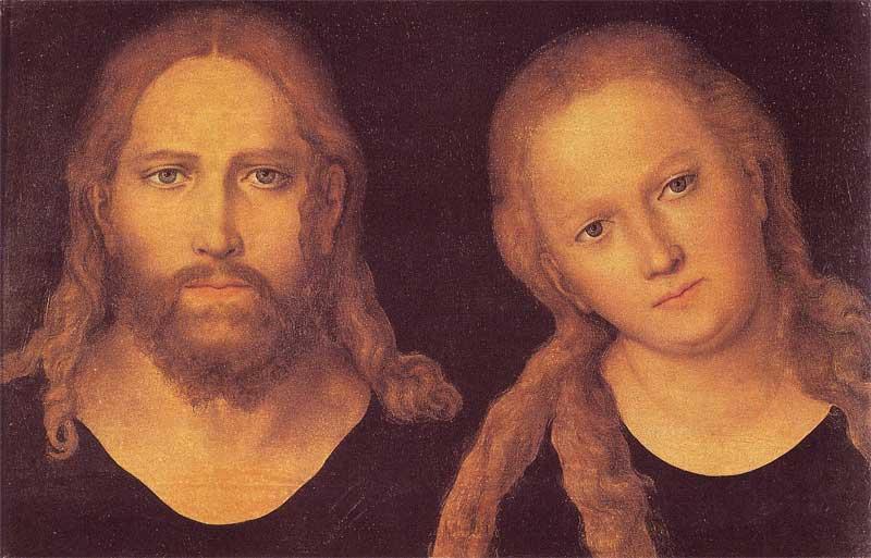 Christ and Mary - Lucas Cranach the Elder