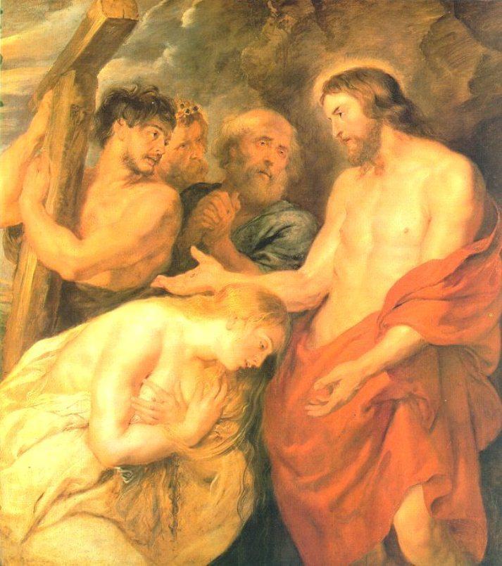 Christ and Mary Magdalene - Albrecht Durer