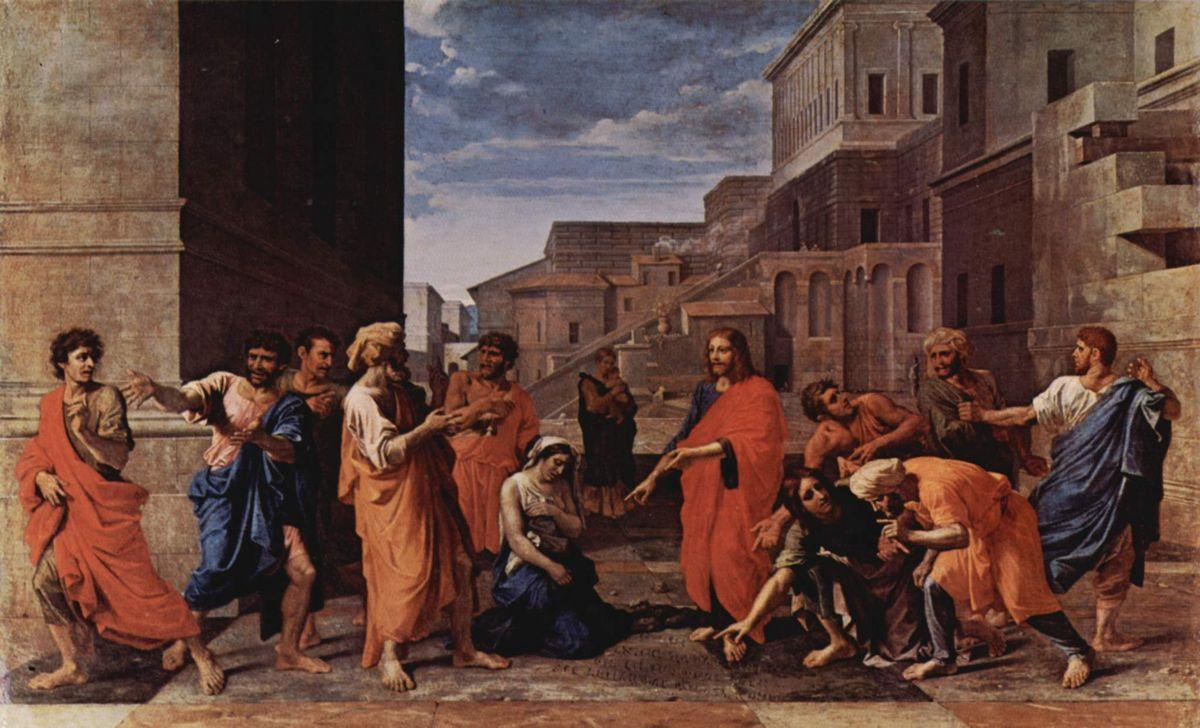 Christ and the adulteress - Nicolas Poussin